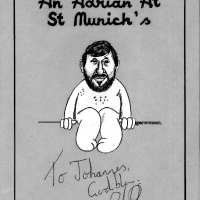 Adrian Plass Cartoon (mit Originalautogramm)