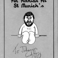 Adrian Plass Cartoon (mit Originalautogramm)
