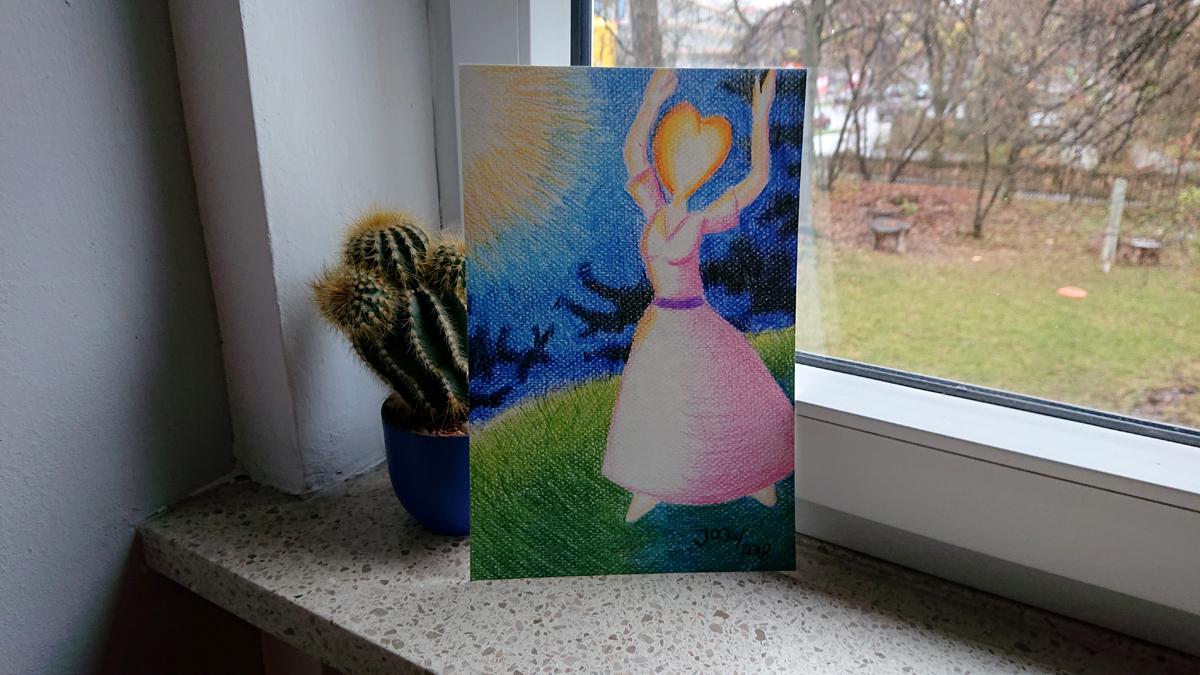Kunstdruck: Liebe bringt Schönheit hervor