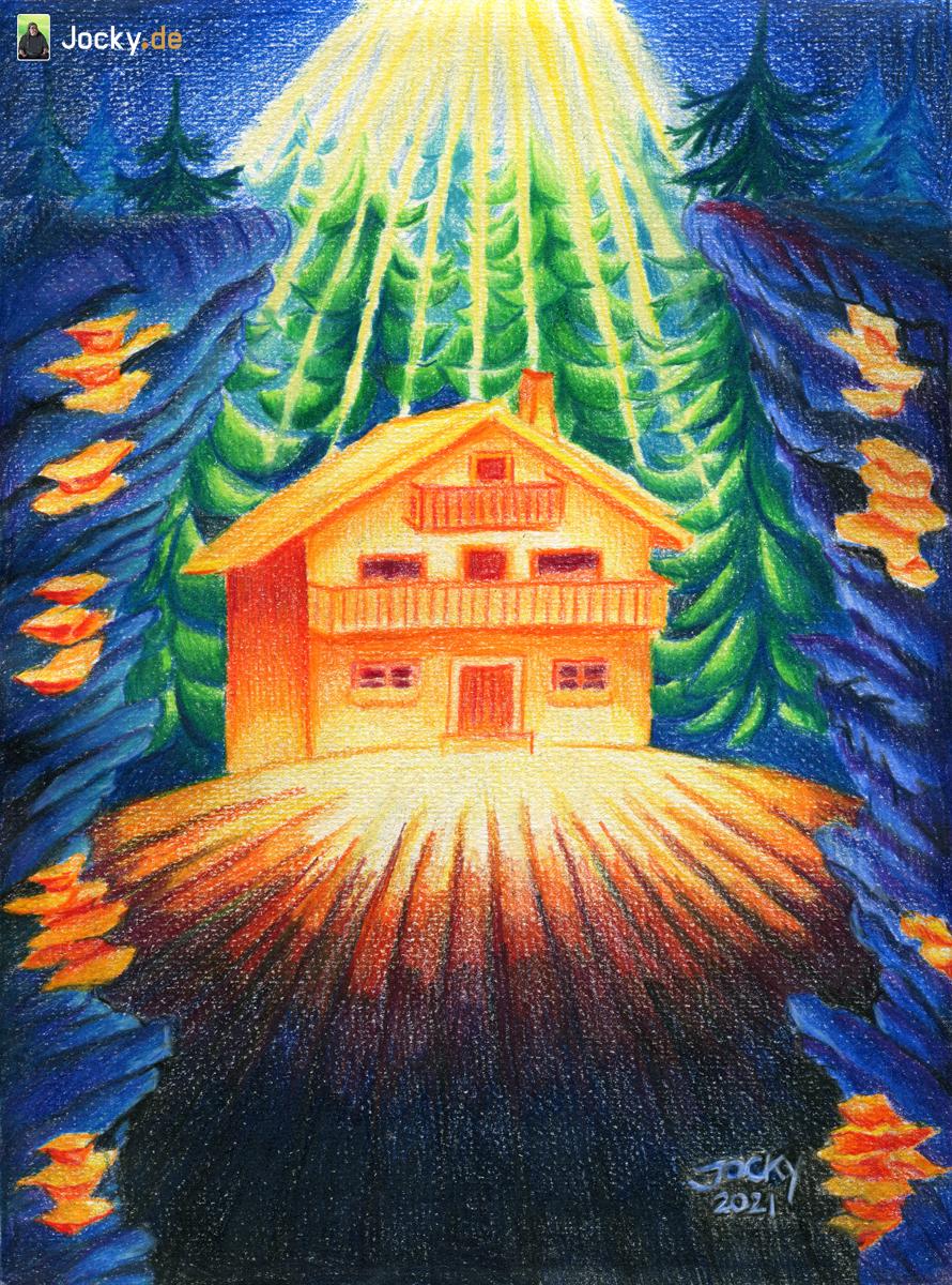 Das Haus im düsteren Wald