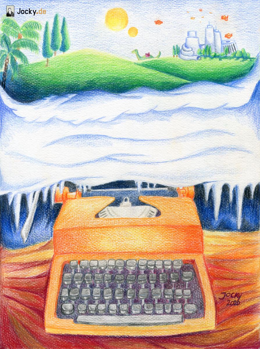 Die entflammte Schreibmaschine
