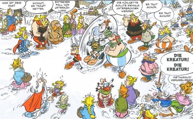 Ein Panel aus dem deutschen Comic