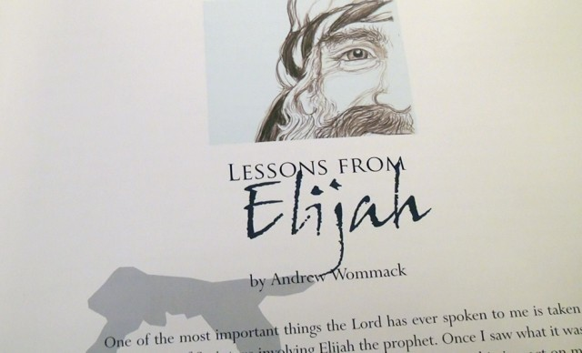 Lessions from Elijah