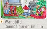 Wandbild - Comicfiguren