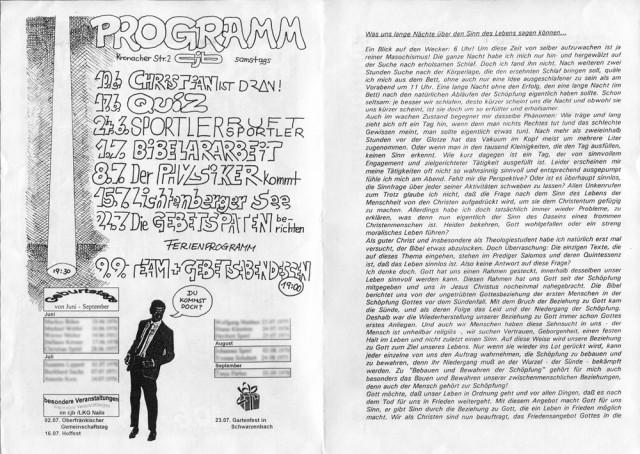 cjb Naila - Programm (Sommer 95) 02