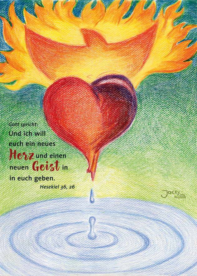 Postkarte Neues Herz