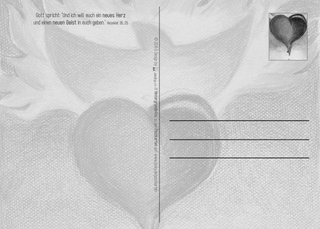 Postkarte Neues Herz (hinten)