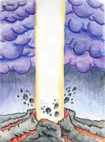 Göttliches Licht bricht durch dicke Kruste von Furcht und Zwängen