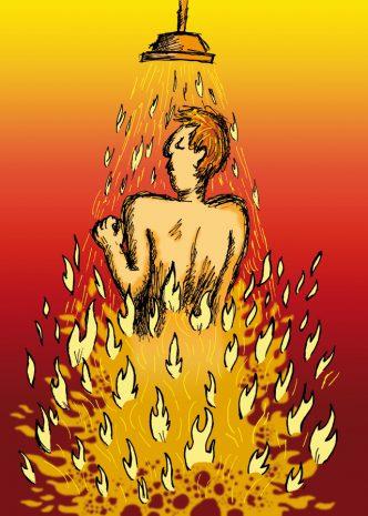 Feuerdusche