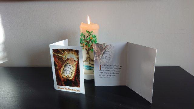 Weihnachtsgrusskarte: Ich schaue dich mit Freuden an IV