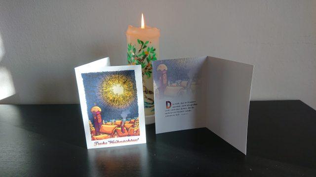 Weihnachtsgrußkarte: Das Volk im Finstern IV