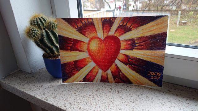 Liebe bricht sich Bahn (Kunstdruck)